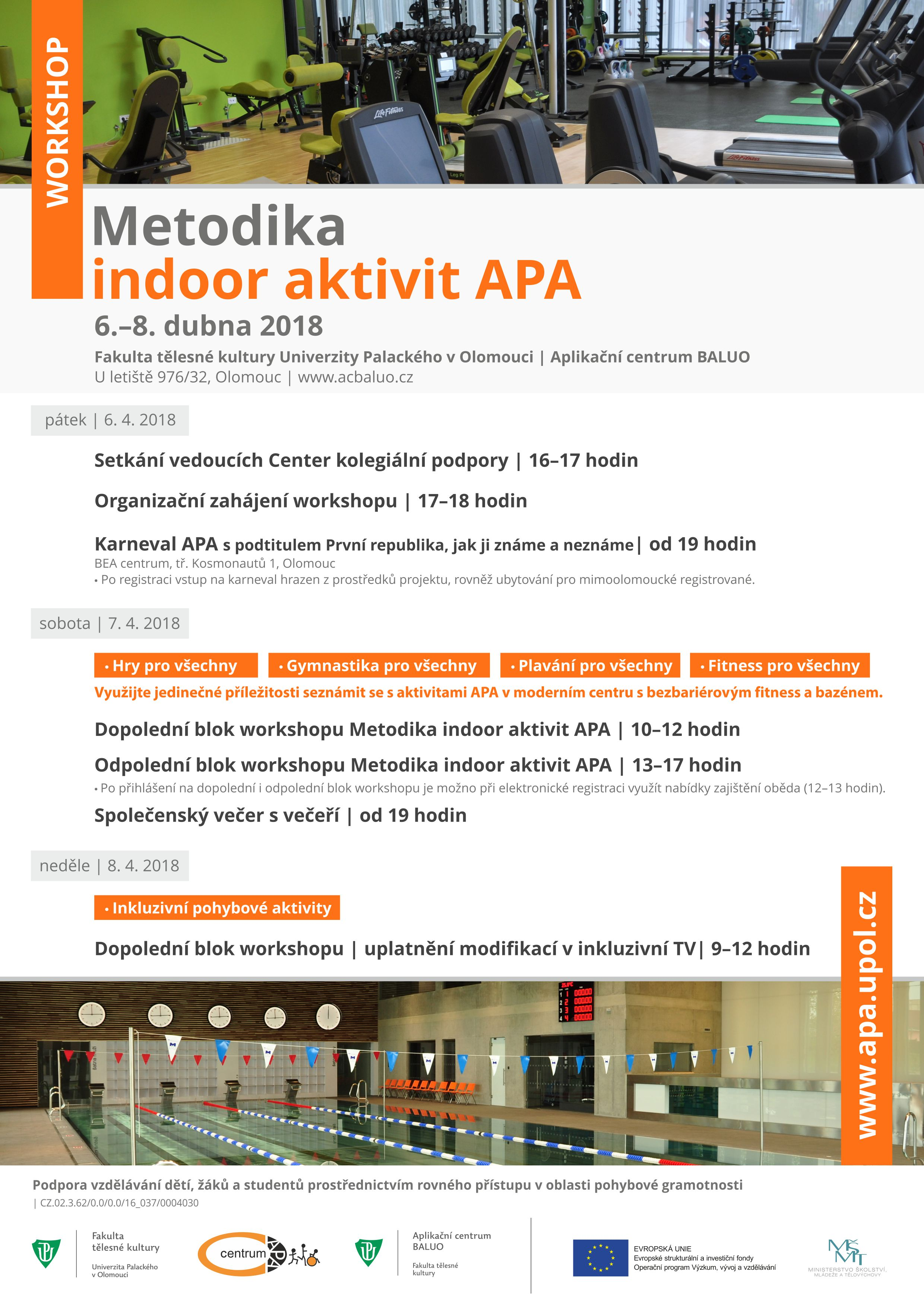 APA workshop Metodika indoor aktivit APA